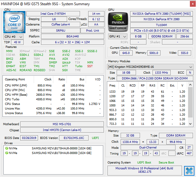 Breve Análise do Portátil MSI GS75 Stealth 9SG: Um portátil para