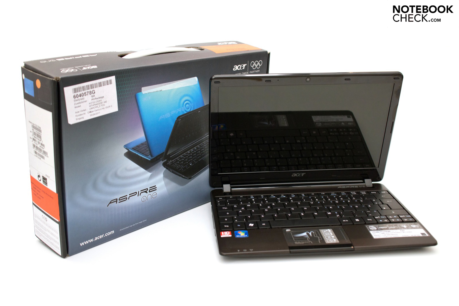 Análise Do Netbook Acer Aspire One 722 Notebookcheckinfo