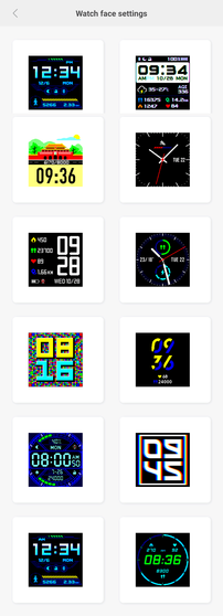 Alternative clock faces