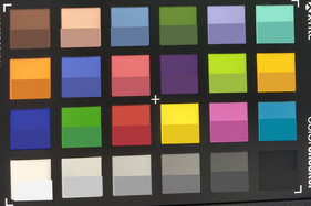 ColorChecker: Target colors are displayed in the lower half of each patch..