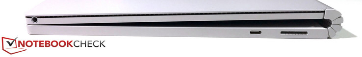 Right side: 3.5 mm stereo jack (tablet), USB 3.1 Gen.1 (Type-C), Surface Connector