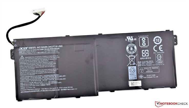 69 Wh lithium-ion battery