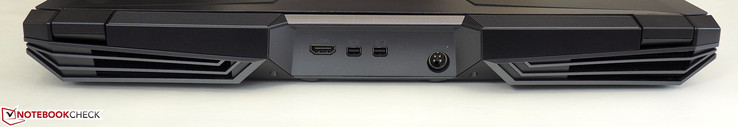 Rear: 1x HDMI, 2x Mini-DisplayPort, power