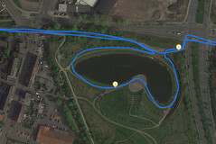 GPS Test: Sony Xperia 10 – Cycling around a lake