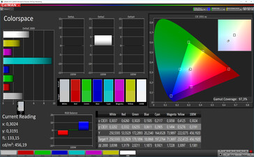 CalMAN: Colour Space – sRGB target colour space, custom white balance