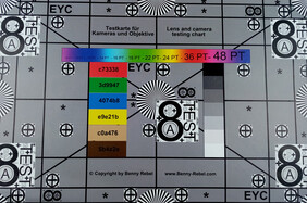 Picture of the test chart