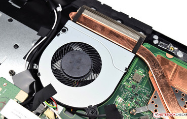 a fan is located in the laptop