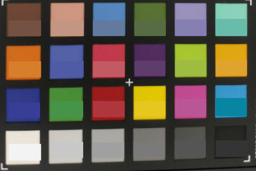 Picture of the ColorChecker colors. The reference color is displayed in the lower part of each patch.