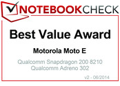 Best Value Award in June 2014: Motorola Moto E