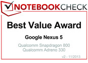 Best Value Award in November 2013: Google Nexus 5