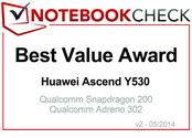 Best Value Award im April 2014: Huawei Ascend Y530