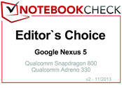 Editor's Choice in November 2013: Google Nexus 5