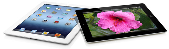 Apple: iPad 3 preto e branco