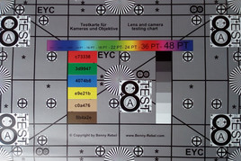 Photograph of our test chart