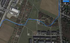 GPS test – Nokia 1: Route through a wooded area