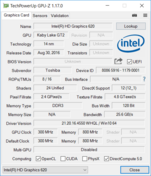 System info: GPU-Z Intel HD Graphics 620
