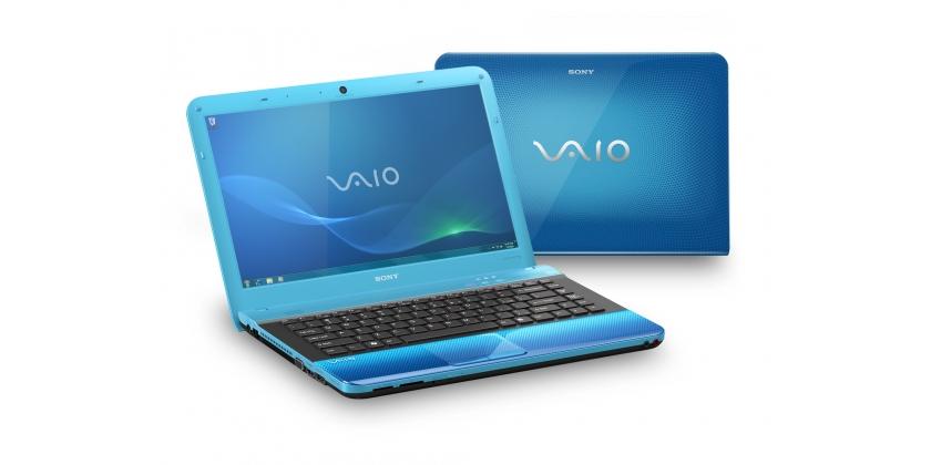 sony blue laptop